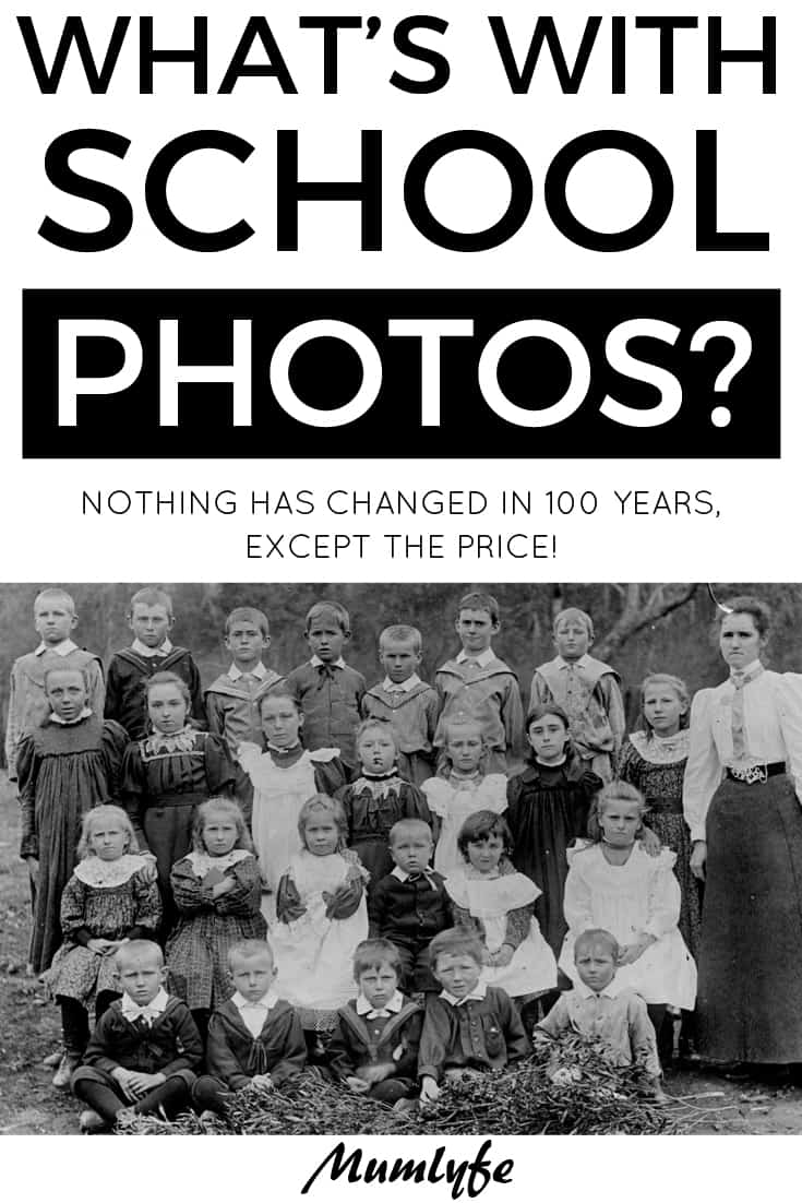School photos - nothing has changed in 100 years except the price #school #schoolphotos #parenting
