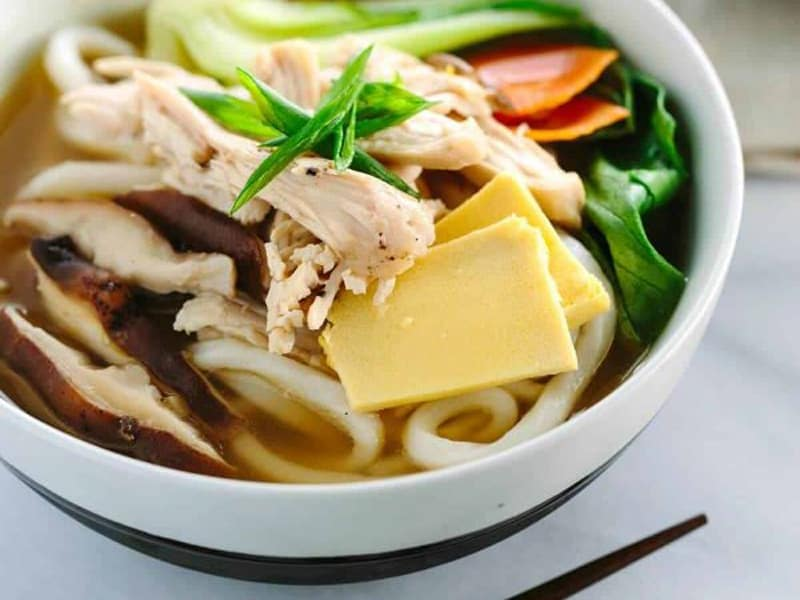 Supermarket chicken recipes - chicken udon soup