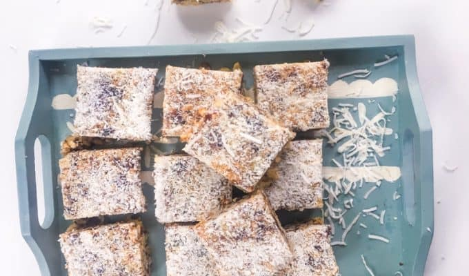 Crispy date slice- great in the lunchbox #recipe #slice #bars