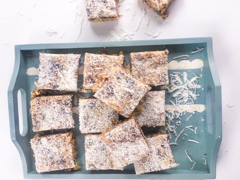 Crispy date slice- great in the lunchbox #recipe #slice #bars