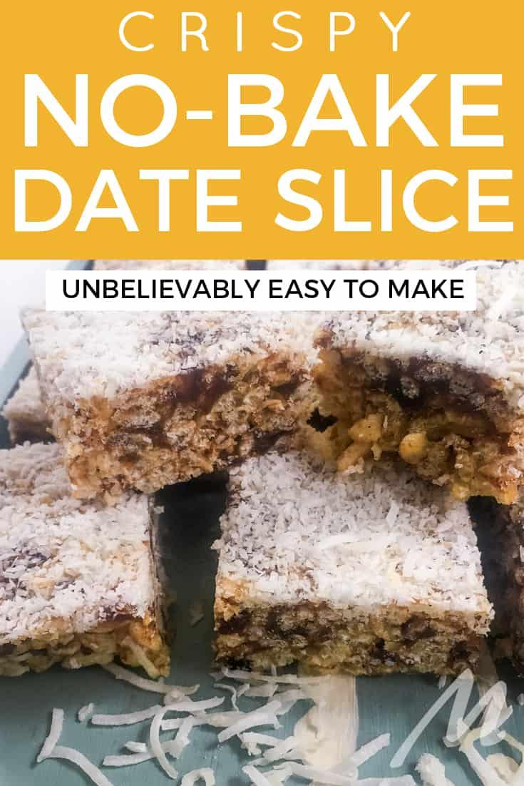 Date slice - so easy to make and so good #nobake #recipe #dateslice #dates