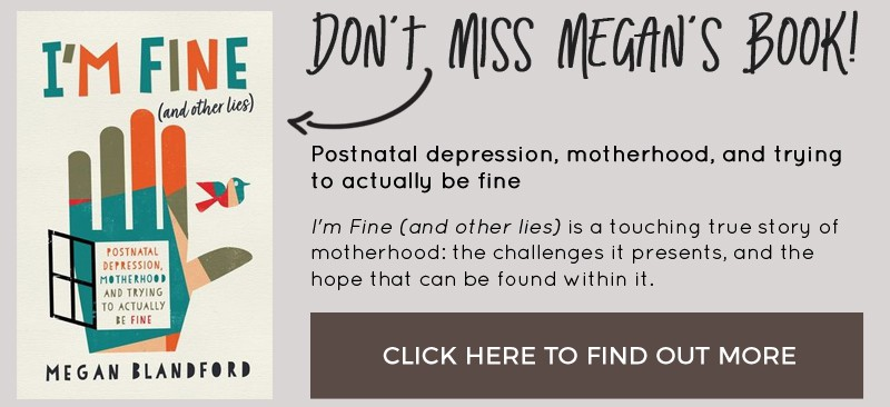 Don't miss I'm Fine and Other Lies by Megan Blandford #postnataldepression #postpartumdepression #pnd #selfkindness