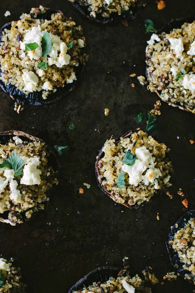 Easter lunch ideas - stuffed mushrooms by My Darling Lemon Thyme