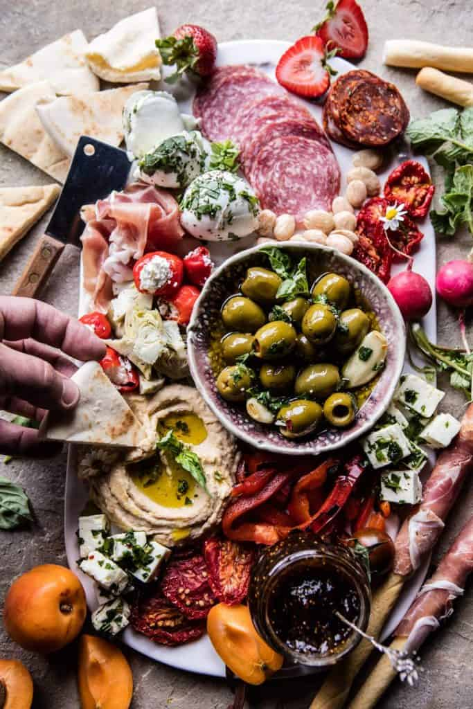 Easter lunch ideas - antipasto platter from Half-Baked Harvest