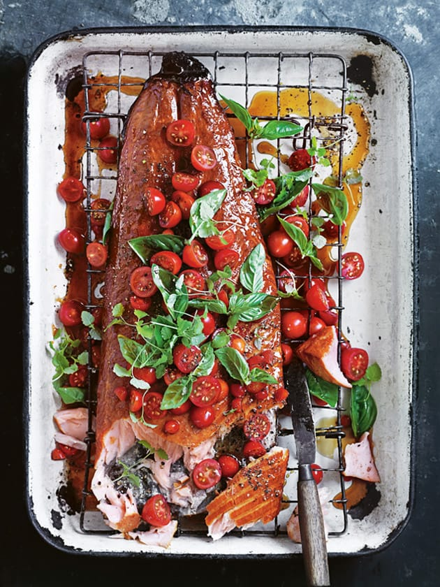 Easter lunch ideas - whole salmon from Donna Hay