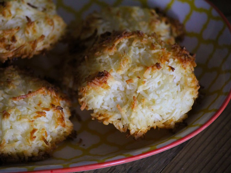 Cheat's coconut macaroons to make