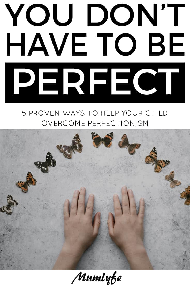 Overcoming perfectionism - you don't have to be perfect
