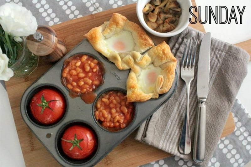 Sunday breakfast - an easy oven-baked makeover that takes no time at all