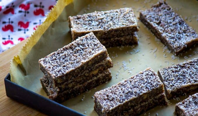 No-bake chocolate slice recipe