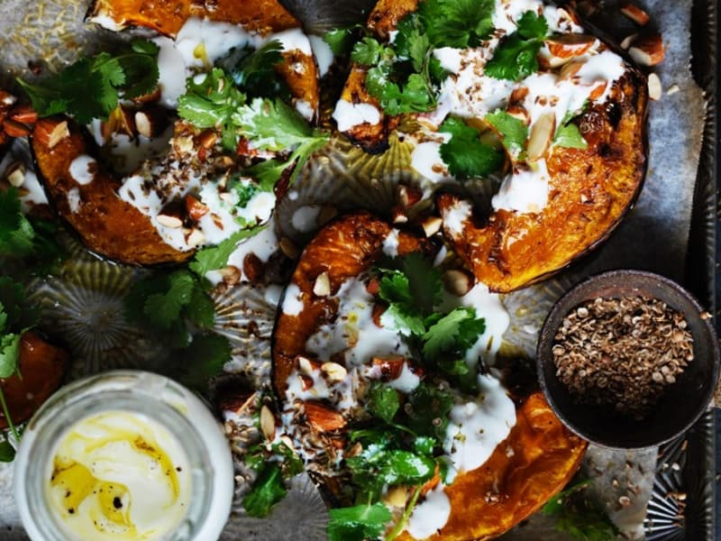 Tray bakes to make life easy - spiced pumpkin