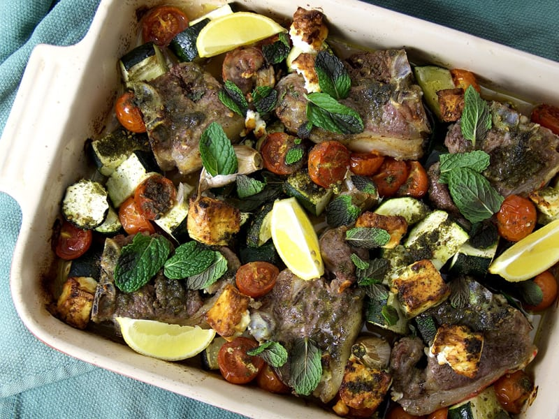 Great tray bakes to try: lamb chop