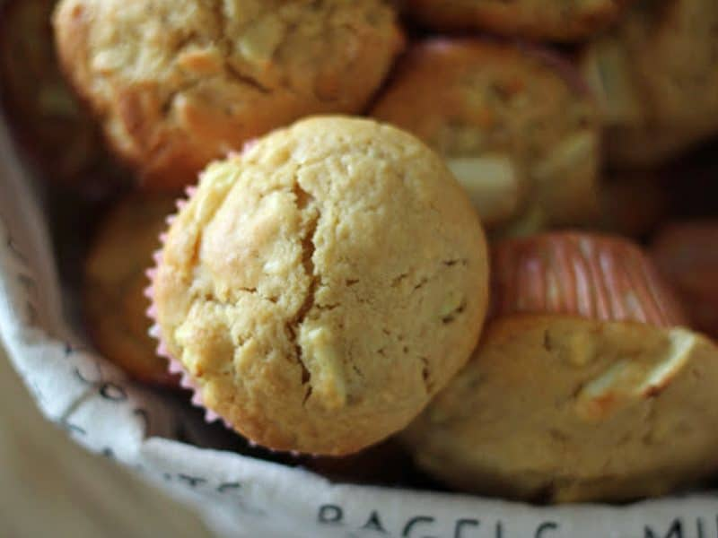 Easy apple muffins - perfect for afternoon tea