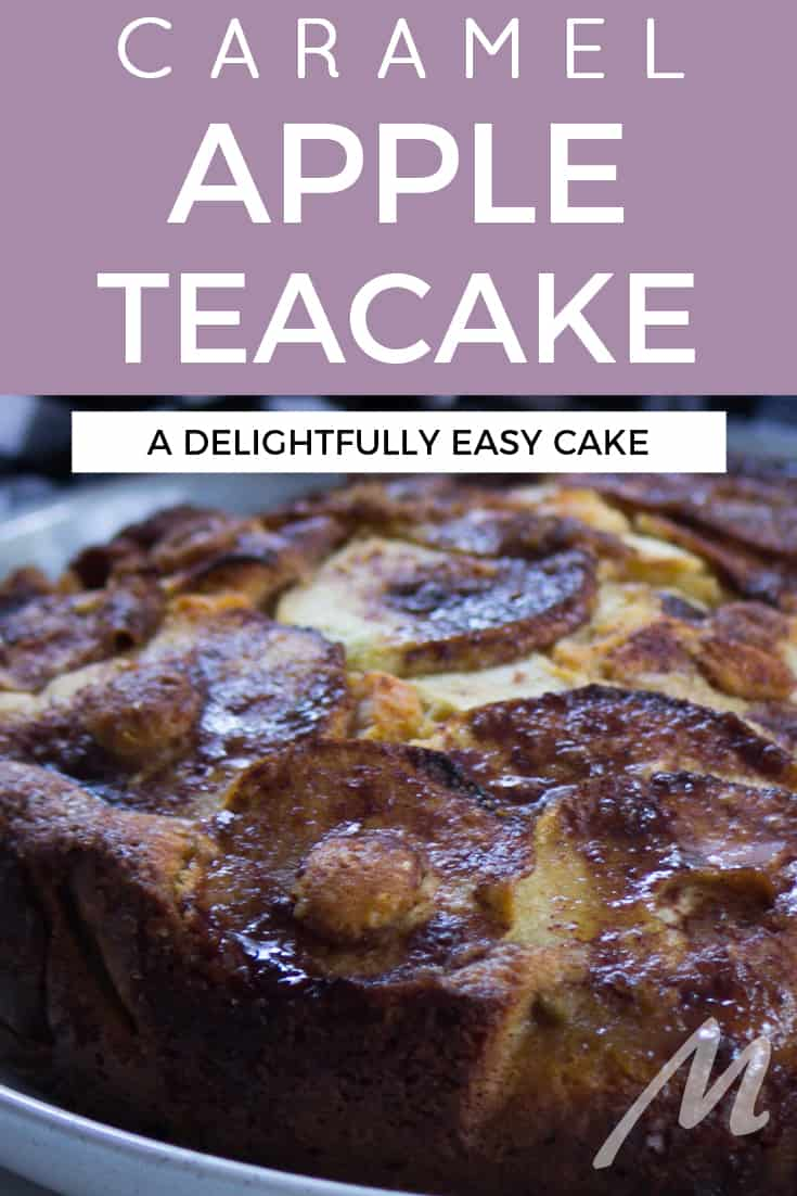 Caramel apple teacake recipe