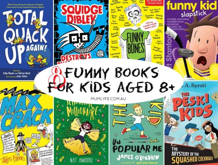 8 Funny books for kids aged 8+