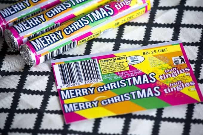 Christmas lifesaver wrappers