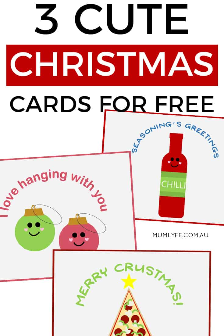 3 free Christmas cards to download and print - super cute