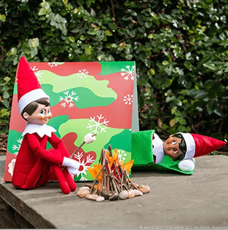 Aussie Elf on the shelf ideas - camping