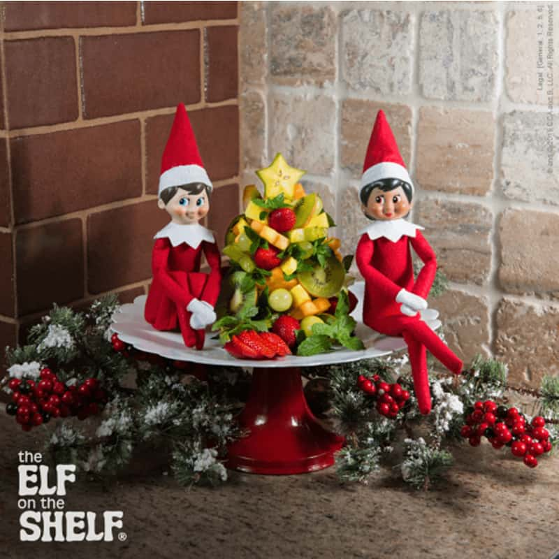 Aussie Elf on the shelf ideas - festive fruit