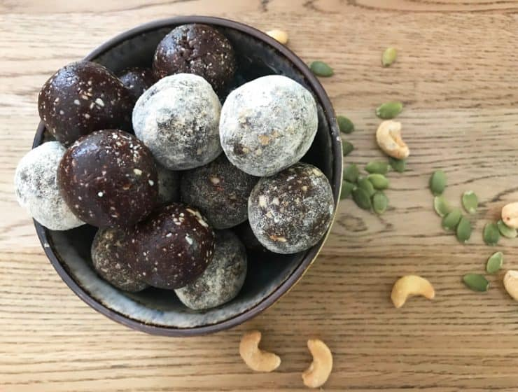 Choc bliss balls - the easiest pick me up imaginable