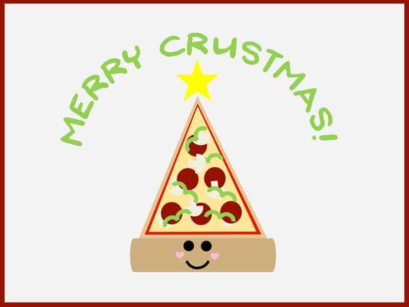 Free Christmas cards - Merry Crustmas