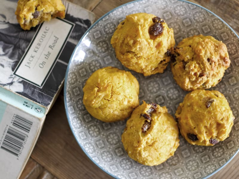 Pumpkin rock cakes for happy snacking
