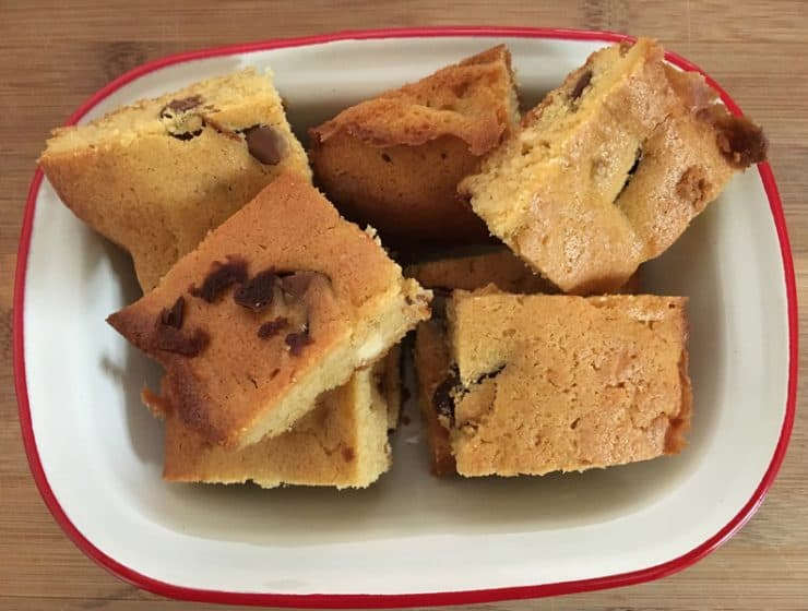 Simple choc chip slice - ready in a jiffy