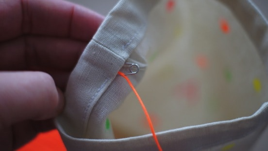 Drawstring bag - thread your string