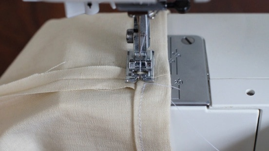 Sew along your seam