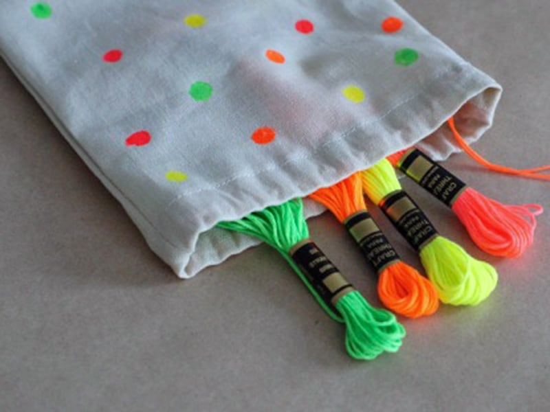 How to make a drawstring bag - they are so handy