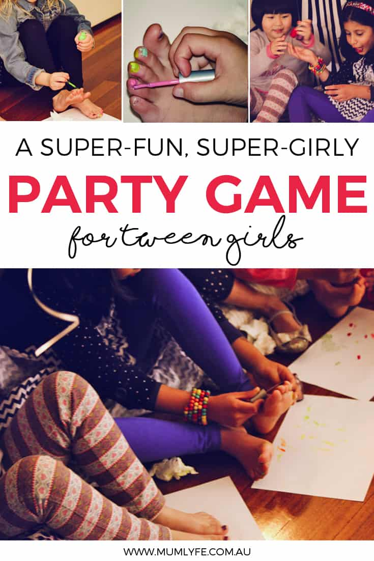 Party game for tween girls - musical nails is so much fun you'll play it every year