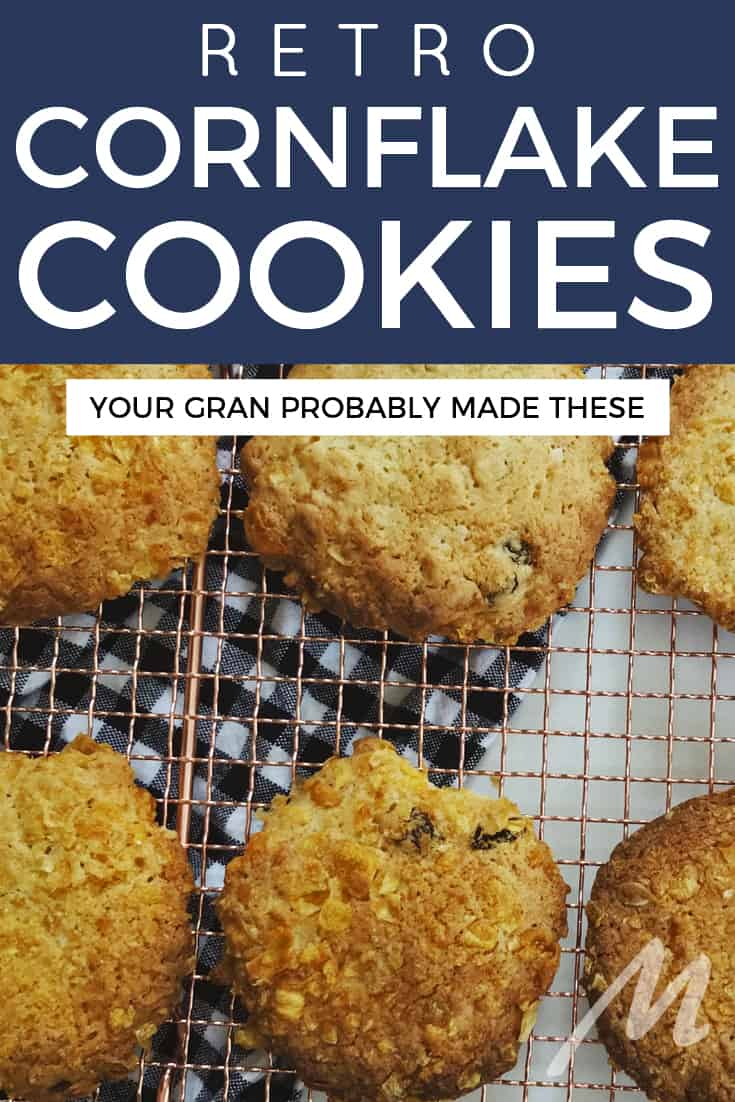 Retro cornflake cookies like your Gran probably made